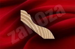 Плинтус для пола фигурный 40х45мм ДУБ б/с