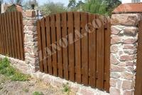 Забор деревянный СОСНА H=1500mm (№07)