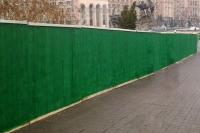 Забор строительный из щитов ОКРАШЕННЫХ H=2000мм (№ 05)